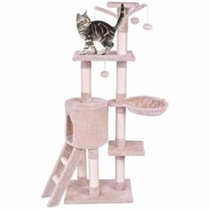 Tangkula Cat Tree, Multi-Level Kitten Tower Condo with Scratching Post and Ladder, Pet Furniture Pet House for Kittens, Cat Activity Tower Cat Tree Condo, Cat Activity, Pet Furniture, House Furniture, Sisal Rope, Cat Scratching Post, Cat Supplies, Carpet Design, Carpet Runner