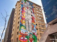 Obra de arte de Rui Amaral, na Av. Paulista,São Paulo - Brasil.