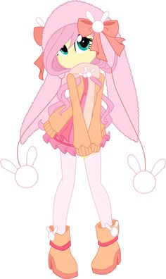 Fluttershy Winter Wear by Oathkeeper21.deviantart.com on @DeviantArt