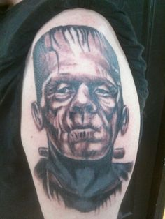 #freehand #custom #tattoo #bodyart #ink #JakeCustomTattoos #nh #Manchester #art #Frankenstein