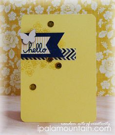Yellow cards can be so flashy. This one creates a focal point that is quite lovely! CASE Study