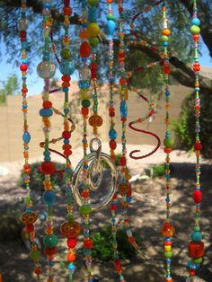 hanging glass beaded