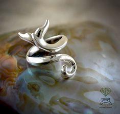 Whale Tail Ring,Sterling Silver Ring de Dcastjoyas en Etsy