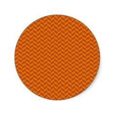 Burnt Orange Chevron Zig Zag Stripes Pattern Sticker