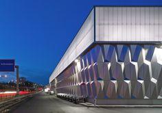Bauhaus, Berlin, Halensee, Fassade, Baumarkt, Drive-In, Müller Reimann Architekten, Aluminiumhaut, Fachcentrum Bauhaus Berlin, Berliner Woch...