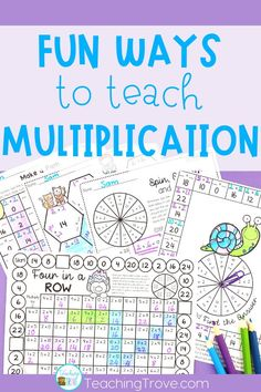 Help your class learn their multiplication facts with games, activities and resources. Make mastering multiplication and teaching the times tables fun. Multiplication Activities, Algebra Activities, Math Resources, Teaching Math, Math Games, Teaching Ideas, Guided Math Groups, Mind Reading Tricks, Third Grade Math