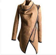 Wrap Coat Trench Coat Women Cashmere Overcoat Full Size Women Wool Coats Fur