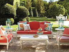 Frontgate Glen Isle White Collection - Outdoor Furniture Sets... THIS IS MY NEW PATIO FURNITURE!!!!