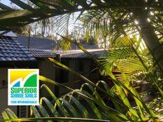 Shade Sail for the play area in this beautiful Bali Style garden. Carport Shade, Shade Sail Installation, Brisbane Cbd, Sun Sail Shade, Bali Style, Sand Pit, Us Sailing, Patio Shade, State School