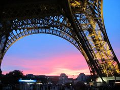 I could be persuaded to see the Sunset under the Eiffel Tower - Paris