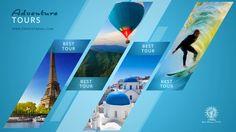 Werbung für Reisebuero und Reiseveranstalter