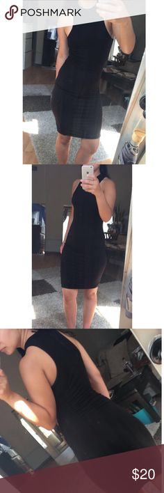 Cute black dress Super useful black dress. So versatile! Wear with long sleeve, layer it up! So comfy as well! Worn a few times. If you have any questions please ask! Thanks my loves Dresses Mini