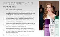 Create Amy Adams' sensuous volume look at the 2012 Met Ball using Kérastase. Damp Hair Styles, Long Hair Styles, Adam S, Red Carpet Hair, Amy Adams, Blow Dry, Dry Hair, Hair Makeup, Hair Color