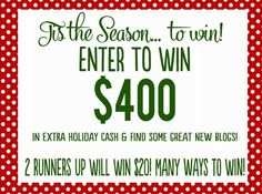 $400 worth of FREE money?! Yes please! Come enter our 'Tis the Season' giveaway!