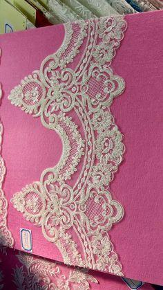 Etsy の Beaded Alencon Lace Trim for Applique Corsets by lacetime