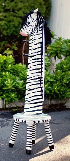 Exceptional Kids Childrenu0027s Jungle Safari Animal Theme Stool Chair Coat Rack Tree Pole  Zebra Gallery