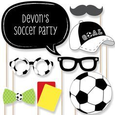 20 GOAAAL Fútbol Photo Booth Props Kit de por BigDotOfHappiness