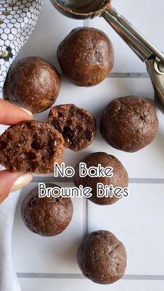 Gluten Free Desserts, No Bake Desserts, Healthy Desserts, Dessert Recipes, Almond Milk Desserts, Healthy No Bake Cookies, No Bake Snacks, Healthy Sweet Snacks, Healthy Sweets