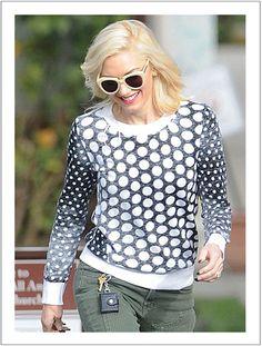 Gwen Steffani wears Karen Walker eyewear - available online at Sisters & Co www.sistersboutique.co.nz