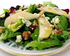 Gorgonzola Cheese Cups With Pear & Walnut Green Salad Recipes ...