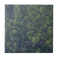 Green Trees Tile - wood gifts ideas diy cyo natural