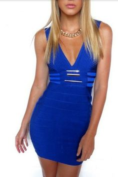 blue sexy mini dress via Luxury store. Click on the image to see more!