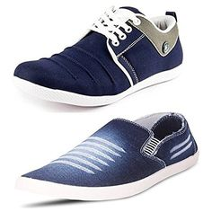 Maddy Men's Combo of 2 Shoes-1 Sneakers, 1 Loafer (8)