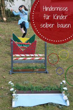 Hindernisse Hürden für Kinder selber bauen DIY #mamablogger #diy #garten #selberbauen