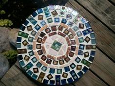 Original Mosaic stepping stone, hope rous