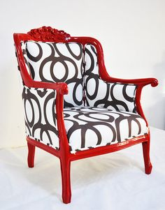 Reserve Listing FOR Gretchen: Red Armchairs por namedesignstudio