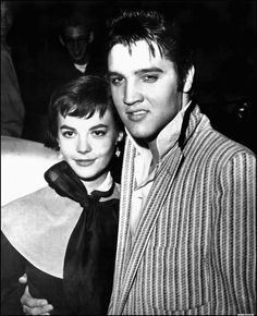 Taken in Memphis, TN. Natalie Wood came to visit Elvis on October 31, 1956. She stayed in Memphis for four days.