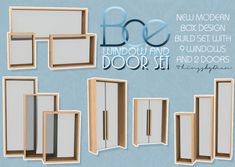 Bae window and door set at THINGSBYDEAN • Sims 4 Updates