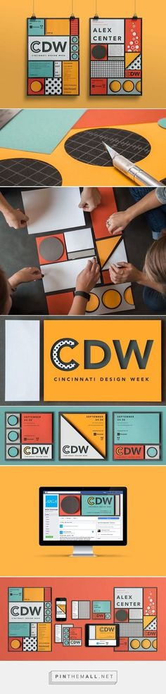 AIGA Cincinnati Design Week Branding by Hyperquake, LLC Fivestar Branding Agency – Design and Branding Agency & Curated Inspiration Gallery Dm Poster, Design Poster, Graphic Design Branding, Corporate Design, Identity Design, Typography Design, Packaging Design, Posters, Visual Identity