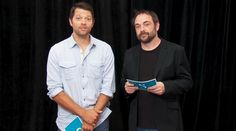 Baby. In. A. Trench. Coat. :D | CW Comic-Con 2014 Supernatural Q&A with Misha Collins & Mark Sheppard