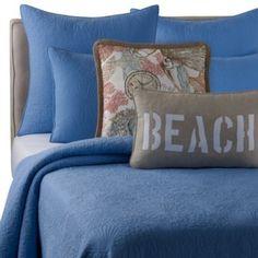 Solid Seashell Blue Pillow Shams - BedBathandBeyond.com