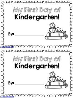 UPDATED! ~ First Days of Kindergarten Pack