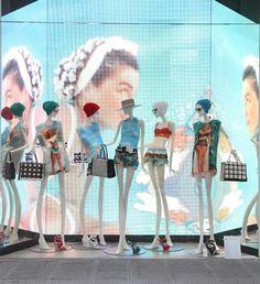 Luisa Via Roma window display. #retail #merchandising #window_display
