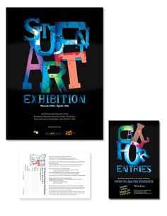 Student Art Exhibition poster, call for entries & form on Behance