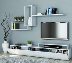 18 ideas for living room tv wall decor floating shelves ikea hacks Tv Wall Design, Living Room Tv Unit Designs, Trendy Living Rooms, Interior, Living Room Decor Apartment, Bedroom Design, Floating Shelves Living Room, Modern Tv Wall Units, Apartment Decor