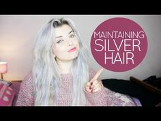 Have you been holding off on trying the silver hair trend because you're not sure how to maintain it? Or, is your hair already dyed silver, but you worry that your shiny tresses will tarnish? 2015 Hairstyles, Pixie Hairstyles, Pretty Hairstyles, Grey Hair Maintenance, Love Hair, My Hair, Silver Grey Hair, Hair Serum, Dark Hair