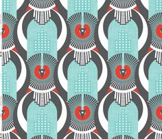 Art Deco Shanghai fabric by zesti on Spoonflower - custom fabric