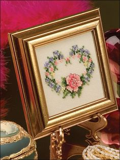 Cross-Stitch - Special Occasions - Valentine's Day Cross-stitch Patterns - Rose Heart - #FX00165