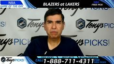 Portland Trailblazers vs. LA Lakers Free NBA Basketball Picks and Predic...