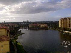 Wyndham Grand Orlando Resort Bonnet Creek: Balcony View Twards Epcot