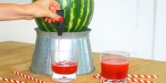 How to Turn a Watermelon Into a Keg - Summer Party Recipes: use a SFT friendly beverage for 0 P+ or count for other