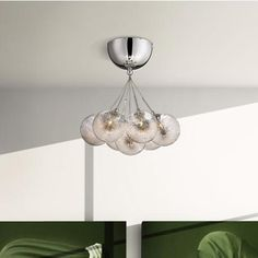 "Possini Euro Honeycomb Glass 11"" Wide Chrome Ceiling Light"