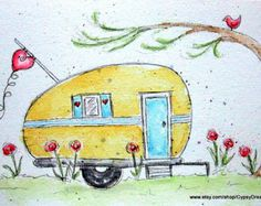 Camper Love Watercolor Print