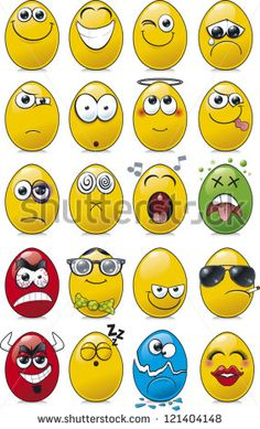 Find Egg Shaped Emoticon Collection stock images in HD and millions of other royalty-free stock photos, illustrations and vectors in the Shutterstock collection. Funny Emoji Faces, Silly Faces, Cartoon Faces, Cartoon Drawings, Cartoon Expression, Easter Egg Designs, Smileys, Art Drawings For Kids, Rock Painting Designs