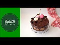 Tort brownie cu ciocolata- reteta video. Tort brownie cu ciocolata Poiana amaruie 65% cacao. Tort de casa. #25aniPoiana #ciocolatapoiana Cake, Desserts, Food, Tailgate Desserts, Deserts, Kuchen, Essen, Postres, Meals