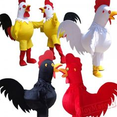 colorful rooster voice posture mascot costume fancy games playing adults size A Adult Halloween Party, Funny Halloween Costumes, Adult Costumes, Rooster Costume, Big Rooster, Chicken Costumes, Cartoon Mascot Costumes, Adult Fancy Dress, Costume Accessories